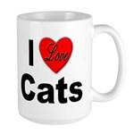 I Love Cats for Cat Lovers Large Mug
