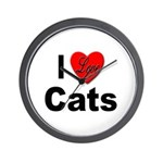 I Love Cats for Cat Lovers Wall Clock
