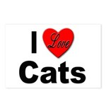 I Love Cats for Cat Lovers Postcards (Package of 8