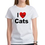 I Love Cats for Cat Lovers (Front) Women's T-Shirt