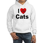 I Love Cats for Cat Lovers (Front) Hooded Sweatshi