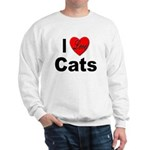 I Love Cats for Cat Lovers (Front) Sweatshirt