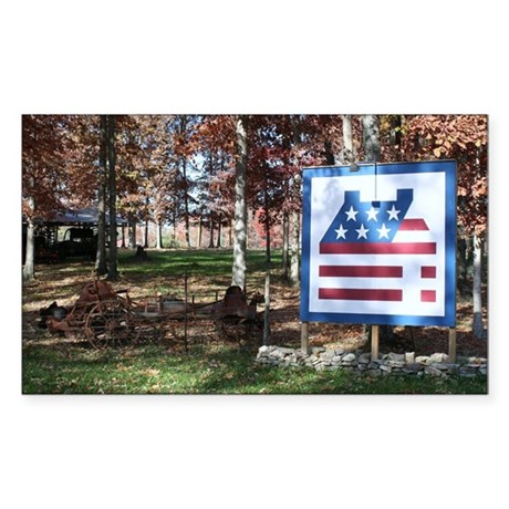 LOG CABIN Rectangle Sticker 10 pk)
