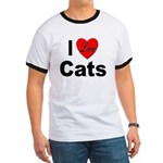 I Love Cats for Cat Lovers (Front) Ringer T