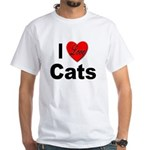 I Love Cats for Cat Lovers (Front) White T-Shirt