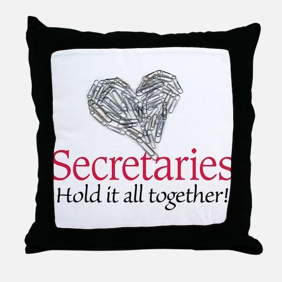 Secretaries Throw Pillow
