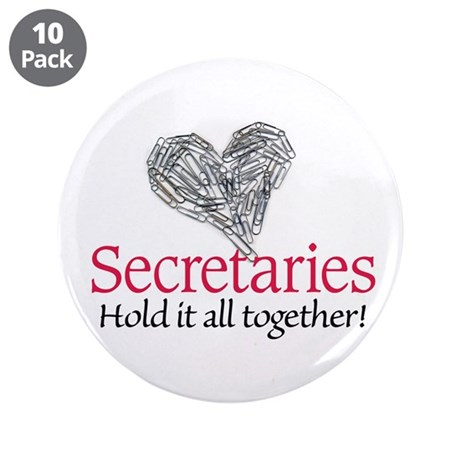 "Secretaries 3.5"" Button (10 pack)"