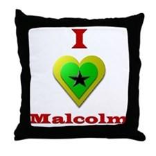 I Love Malcolm Throw Pillow