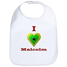 I Love Malcolm Bib