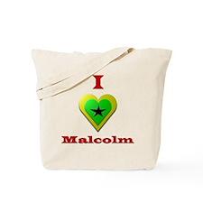 I Love Malcolm Tote Bag