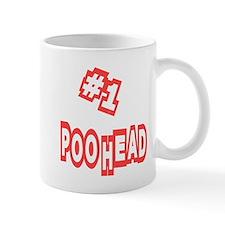 #1 Poo Head Small Mug
