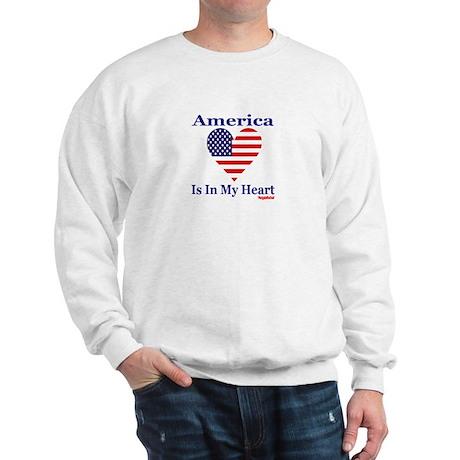 America - Heart Sweatshirt