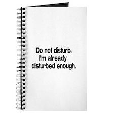 Do not disturb. Journal