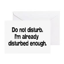 Do not disturb. Greeting Card