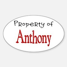 Anthony Oval Decal