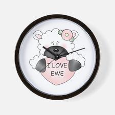 I LOVE EWE Wall Clock
