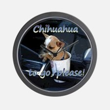 Chihuahua To Go Wall Clock