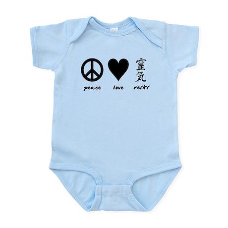 Peace, Love & Reiki Infant Bodysuit
