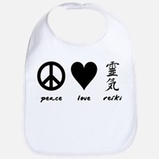 Peace, Love & Reiki Bib
