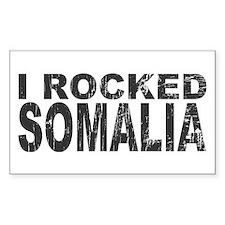 I Rocked Somalia Rectangle Decal