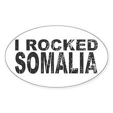 I Rocked Somalia Oval Decal