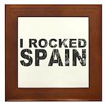 I Rocked Spain Framed Tile
