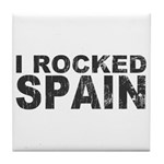 I Rocked Spain Tile Coaster