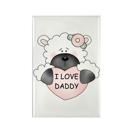 I LOVE DADDY Rectangle Magnet