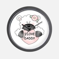 I LOVE DADDY Wall Clock