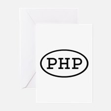 PHP Oval Greeting Cards (Pk of 20)