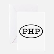 PHP Oval Greeting Card