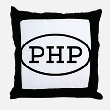 PHP Oval Throw Pillow
