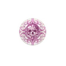 Lady SkullZ Mini Button (10 pack)