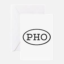 PHO Oval Greeting Card