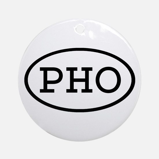 PHO Oval Ornament (Round)