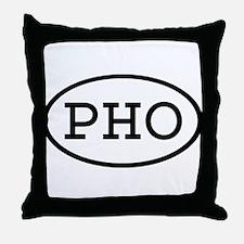 PHO Oval Throw Pillow