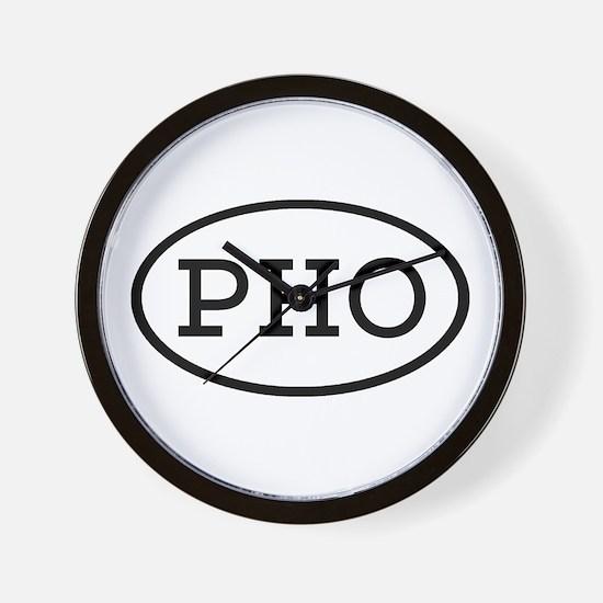 PHO Oval Wall Clock