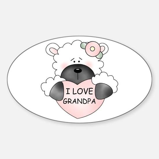 I LOVE GRANDPA Oval Decal
