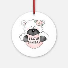 I LOVE GRANDPA Ornament (Round)