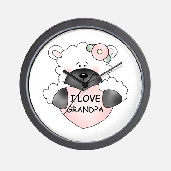 I LOVE GRANDPA Wall Clock