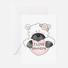 I LOVE GRANDPA Greeting Card