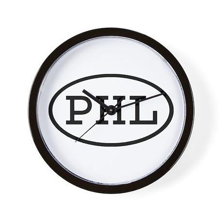 PHL Oval Wall Clock