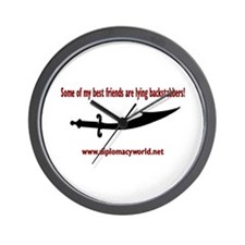 Lying Backstabbers Wall Clock