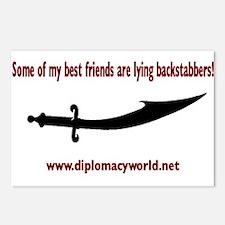 Lying Backstabbers Postcards (Package of 8)