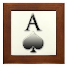 """""""Ace Of Spades"""" Framed Tile"""
