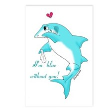 Miss You Shark Postcards (Package of 8)