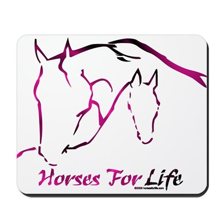 Horses For Life Rose Mousepad