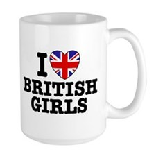 I Love British Girls Mug