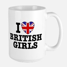 I Love British Girls Mug