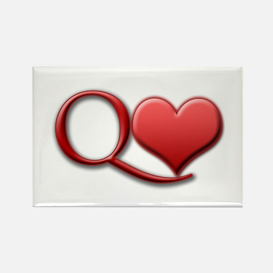 """Queen of Hearts"" Rectangle Magnet"
